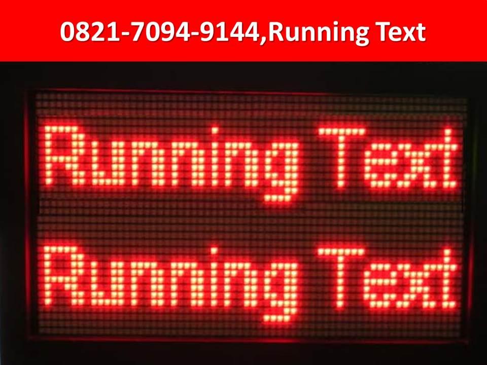 running text batam